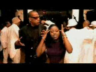 Foxy Brown & Jay-Z & white-clad dancers